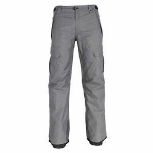 686 Mens Infinity Insulated Cargo Ski Snowboard Pant Grey melange Medium