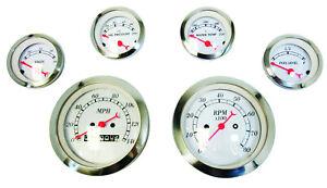 Classic 6 Gauge Set Mechanical Speedometer Street Hot Rod Chevy Ford Chrysler