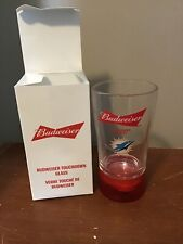 NEW NFL TOUCHDOWN BUDWEISER RED LIGHT GLASS -MIANI DOLPHINS