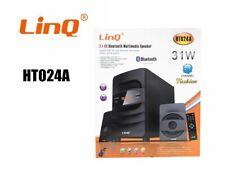 Sistema Home Theater 2.1 Cassa Bluetooth Speaker 31W Multimedia Linq Ht-024a