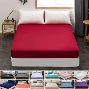 Extra Deep Pocket UK Emperor Fitted Bottom Sheet 1000 TC Egyptian Cotton Colors