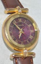 Vintage Fossil Faceted Prism Crystal Watch Copper Diamond-Like Dial PC-9217