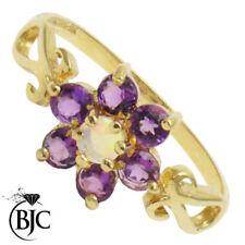 Anelli di lusso viola naturale opale