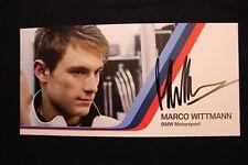Card BMW Motorsport Team MTEK DTM 2013 #21 Marco Wittmann (GER) Signed