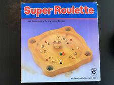 """Tiroler Roulette Echtholz Spiel (""""Super Roulette"""") - NEU & OVP - 80/90er Jahre"""