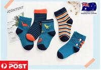 Baby Cotton Socks 5 Pairs/Set Children Cartoon Toddler Sport Boy Girl Kids Socks