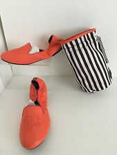 Women's Henri Bendel Orange Sole Ambition Leather Loafer Size 8