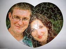 Herz Foto Puzzle mit ihrem Bild Foto logo text Geschenk Geburtstag Weihnachten