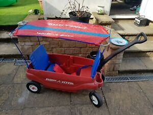 Radio Flyer Wagon Genuine With Canopy Perfect For Festivals