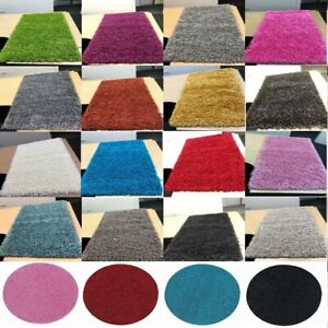 X LARGE Luxurious Modern 5cm Thick High Pile Plain Super Soft NON-SHED ShaggyRug
