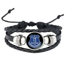 Everton F.C Adjustable Leather & Glass Cabachon Wristband