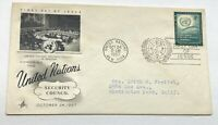 United Nations 1957 Security Council First Day Issue Postal Cover FDC