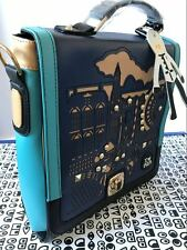 UK Womens Ladies AZA PU Backpack School Rucksack College Satchel Tote Travel Bag