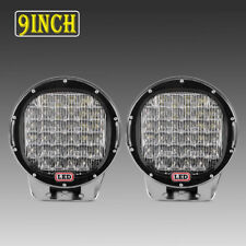 "2X 9Inch 960W Round LED Work Light Bar Driving Lamp Headlight PK 4"" 6"" 7"""