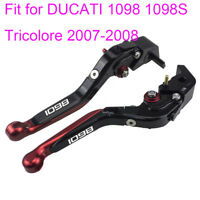 Folding Extendable Brake Clutch Levers for Ducati 1098 1098S Tricolore 2007-2008