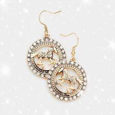 EARRINGS HORSE THEME EARRINGS Rhinestone Pave Horse Metal Earrings