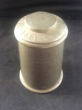RARE Antique PEOPLES FRIEND Hammered Pewter Tea Caddy Tobacco Jar Advertising