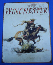 Western Cabin Lodge Barn Stable Decor ~WINCHESTER PONY EXPRESS RIDER~ Metal Sign