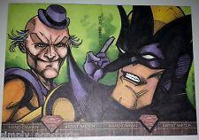 SUPERMAN THE LEGEND SKETCH  2-CARD PUZZLE JED THOMAS / Mr. Mxyzptlk