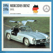 SCHEDA TECNICA AUTO DA COLLEZIONE - MERCEDES-BENZ 300SL 1954-1956