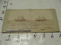 Vintage E & H T Anthony Stereoview card--NY City- VIEW IN NEW YORK HARBOR #1