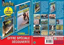 Lot 2 DVD Pêche de la carpe : Pêche carpe (Frères Mahin) &La carpe fantastique