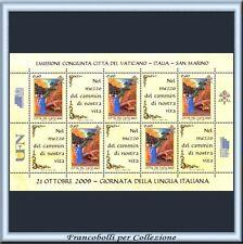 Vaticano 2009 FOGLIETTO Lingua Italiana Congiunta ** 92