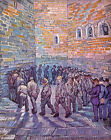 Beautiful art Oil painting Vincent Van Gogh - The exercise of prisoners canvas