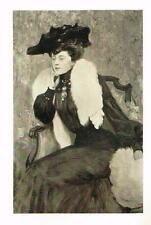 "Photogravure - ""PORTRAIT of MODEL R.D."" by JEANNIOT- Published by Goupil in 1903"
