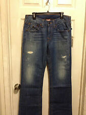 MENS TRUE RELIGION JEANS SIZE 31  NWT BOOTCUT AGED DENIM