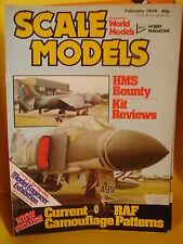 SMI SCALE MODELS INTERNATIONAL FEBRUARY 1979 HMS BOUNTY MCDONNELL DOUGLAS DC9