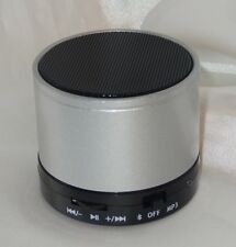 Bluetooth Stereo Mini Lautsprecher Speaker Wireless Musik SD MP3 FM Radio Silber