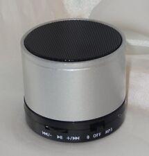 Bluetooth Stereo Mini Lautsprecher Speaker Wireless Musik SD MP3 FM Radio Silber