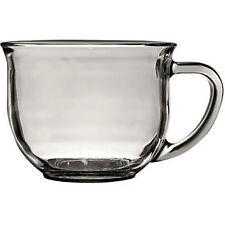 Coffee Tea Mug 18 oz Large Clear Glass Soup Cup Hot Chocolate Home New Free