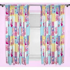"Peppa Pig Nautical Curtains 66"" X 54"" Drop Kids Bedroom"