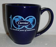 Carrier Corporation Logo Air Conditioning AC Cooling Heating Blue Coffee Mug Cup