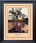 Oak Pine Tree Jeff Gnass Stream Landscape Scenery Wall Art Decor Framed Picture
