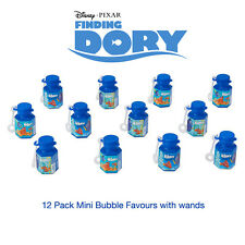 Disney Finding Dory  12 Pack Birthday Party Favours Mini Bubble Bottles & Wands