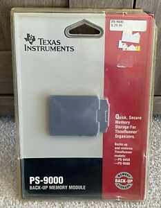 Vintage Texas Instrument PS-9000 Back Up Memory Module For TimeRunner Organizers