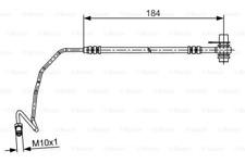 Bremsschlauch für Bremsanlage Hinterachse BOSCH 1 987 481 534