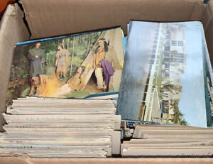 Large 1000+ Lot Of Vintage Mixed  Postcards + Free Travel Brochures