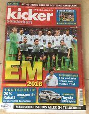 Kicker Sportmagazin Sonderheft Fußball EM 2016 + Poster