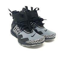 Nike x Acronym Air Presto Mid Sneaker Boot Cool Grey Black Womens 6.5, Men Sz 5