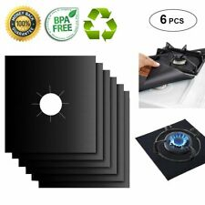 New listing Stove Burner Covers and Oven Liner Reusable Gas Range Protectors Stovetop 6 Pack