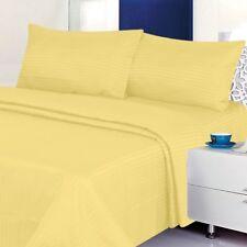 Full Size Bed Sheet Set Yellow 4 Pcs Deep Pocket Cool & Wrinkle Free Soft Sheets