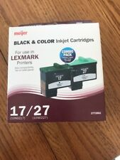 Black & Color Inkjet Cartridges LEXMARK Printers 17/27 Ships N 24h