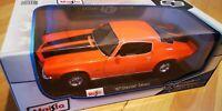 Maisto 1:18 Scale Chevrolet Camaro - 1971 - Orange - Diecast Toy Model Car TOY