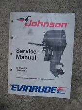 1995 Johnson Evinrude 40 thru 55 Outboard EO Service Manual MORE IN OUR STORE U