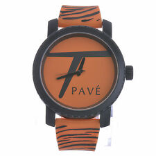"New Unisex Techno Pave Fashion Zebra Animal Printed Watches ""Large Size"" 7110 OR"