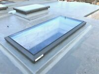 Mardome Glass Trade Rooflight Manual Hinge Opening Glass SKylight Modern Grey